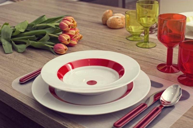 ViceVersa Offset Cutlery Set 24 Red