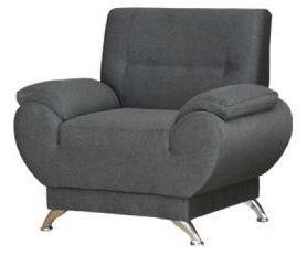 Fotelis Kanclers Livonia Fabric Gray, 92x76x89 cm