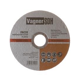 Lõikeketas Vagner SDH 200.23, 115x1,0x22 mm, inox