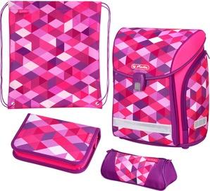 Kuprinė Herlitz Midi Plus Pink Cubes 50022083