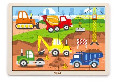Puzle VIGA Construction Vehicles, 24 gab.