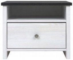 Black Red White Nightstand Porto White/Sibiu Larch