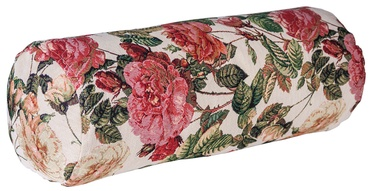 Home4you Holly Globe Roll Pillow D18x50cm Light/Flowers