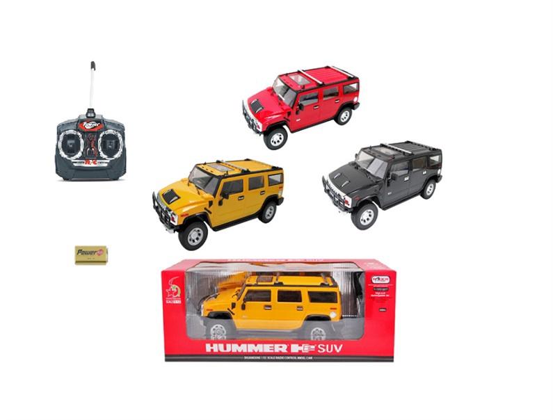 Žaislinė mašina Hummer, raudona, balta, juoda
