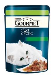 Kassitoit Gourmet Perle liha ja juurviljadega, 85 g