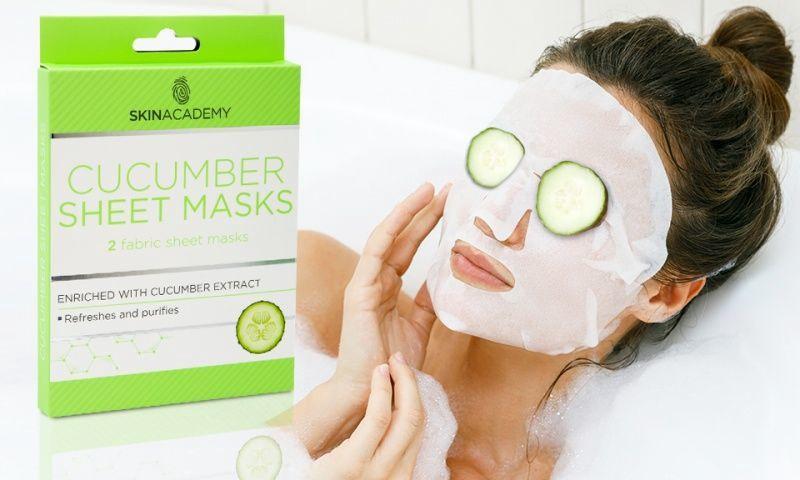 Skin Academy Cucumber Eye Sheet Mask 3pcs