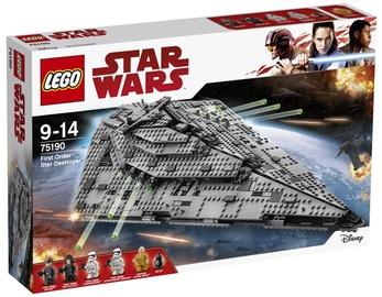 Конструктор LEGO Star Wars First Order Star Destroyer 75190 75190, 1416 шт.