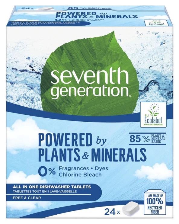 Капсулы для посудомоечной машины Seventh Generation All In One, 24 шт.