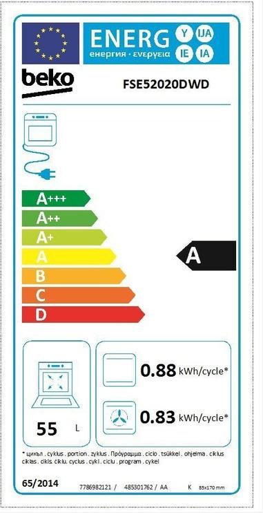 Gaasipliit elektriahjuga Beko FSE52020DWD