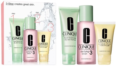 Clinique 50ml Liquid Facial Mild Soap + 100ml Clarifying Lotion 3 + 30ml Moisturizing Lotion