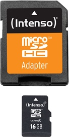 Intenso 16GB MicroSDHC Class 4 + SD Adapter 3403470