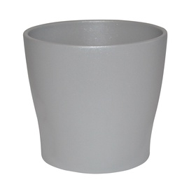 Горшок кер DOMOLETTI, TOSKANIA, д 19, цвет серебряный