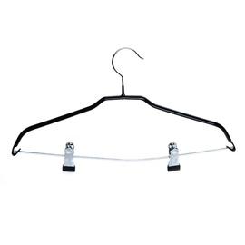 Metalinė drabužių pakaba su skersiniu ir spaustukais
