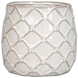 Verners Flower Pot With Diamond Pattern Beige 16cm
