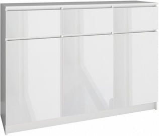 Top E Shop Chest of 3 Doors 3 Drawers Gloss White