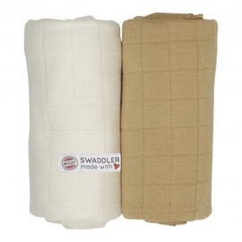 Lodger Swaddler Solid Ivory/Honey 120x120 2pcs
