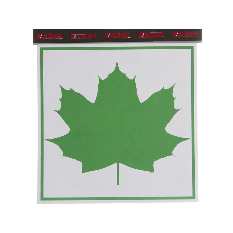 Maple Leaf Sign Sticker 165x165mm Green/White