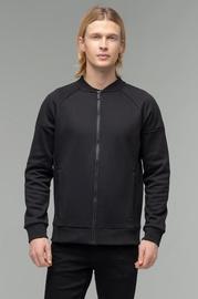 Audimas Mens Cotton Zip-Through Sweatshirt Black S