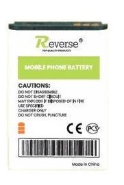 Reverse Long Life Analog Battery For Nokia 5610/5700/6220 Classic/8600 Luna 1050mAh