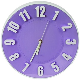 Platinet Toaday Wall Clock 42992 Violet