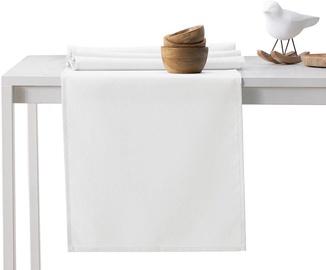 DecoKing Pure HMD Tablecloth White Set 115x250/35x250 2pcs