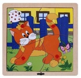 Woody Cat Educational Puzzle 4pcs 93017