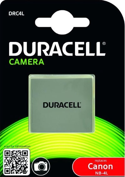 Duracell Premium Analog Canon NB-4L Battery 720mAh