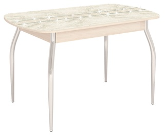 Pusdienu galds DaVita Orfej 36.10 Astrid Pine, 1200x750x750 mm