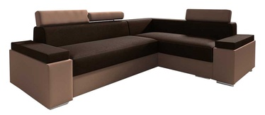 Idzczak Meble Chester Mini Corner Sofa Right Dark Brown/Brown