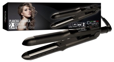 Italian Design Volume Curved Ceramic Straightener Black