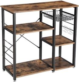 Songmics Kitchen Shelves Brown/Black 90x40x84cm