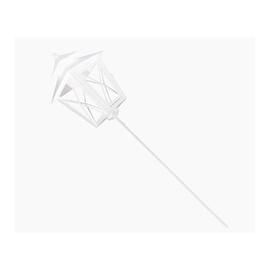 Küünlahoidja Metal XL White