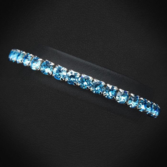 Diamond Sky Bracelet Arabica III Aquamarine With Swarovski Crystals