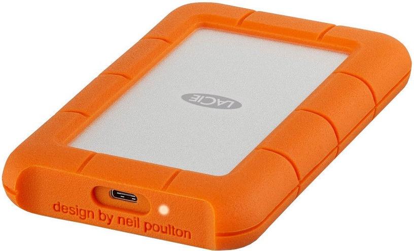 Жесткий диск Lacie STFR1000400, HDD, 1 TB, серебристый/oранжевый