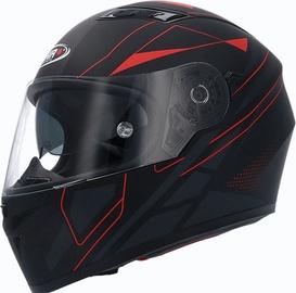 Shiro Helmet SH-600 Elite Matt Black Red L