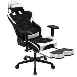 Игровое кресло Songmics, белый/черный