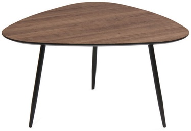Kohvilaud Signal Meble Envo C Walnut/Black, 650x650x430 mm