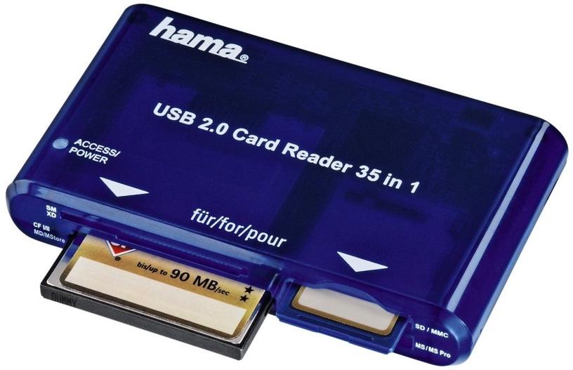 Hama 35in1 USB 2.0 Multi Card Reader Blue