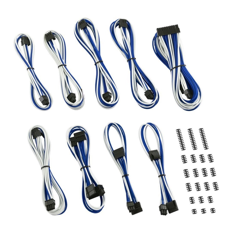CableMod C-Series ModMesh Classic Cable Kit For Corsair AXi/HXi/RM(Yellow Label) White/Blue