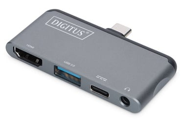 Digitus USB Type-C Mobile Docking Station Grey