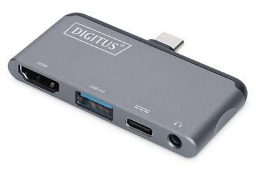 Digitus USB Type-C Mobile Docking Station Grey