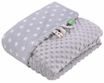 Lulando Minky Baby Blanket Grey/Grey With Stars 80x100cm
