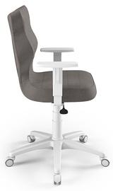 Офисный стул Entelo Duo AL02, коричневый/белый