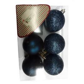 Ziemassvētku eglītes rotaļlieta Christmas Touch N3/6006AB, zila, 60 mm, 6 gab.