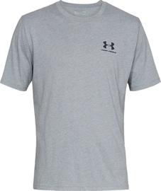Under Armour Mens Sportstyle Left Chest SS Shirt 1326799-036 Light Grey XXL