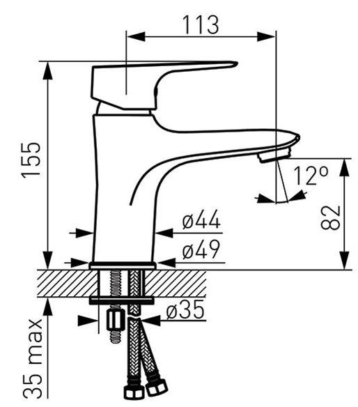 Ūdens maisītājs izlietnei Novaservis Titania Smart 98001/1.0 HR