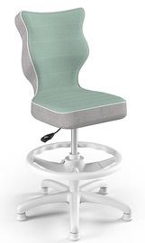 Детский стул Entelo Petit CR05, белый/зеленый, 300 мм x 895 мм