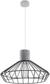 Sollux Nelson SL.0287 Ceiling Lamp 60W E27 Concrete/Black