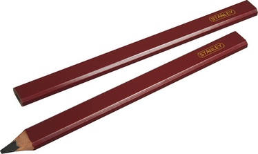 Stanley 0-93-931 Wood Pencil Red 2pcs