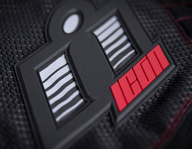 Icon Wireform Jacket Black Red L